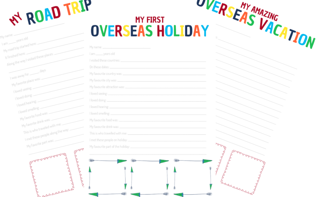 kids travel journal printable