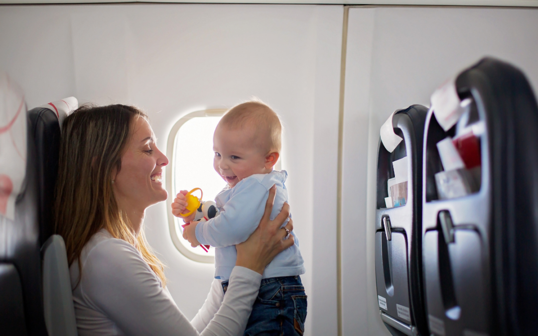 Tips for flying alone with baby or toddler