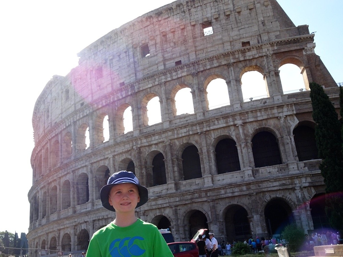 Colosseum Rome with kids