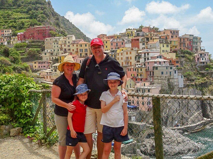 Manarola Cinque Terre Italy with kids