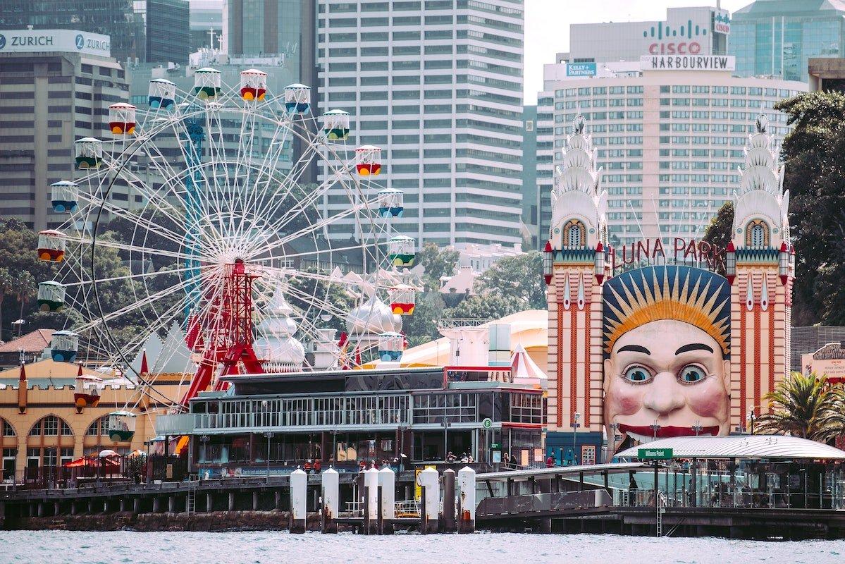 kids theme park Sydney Luna Park